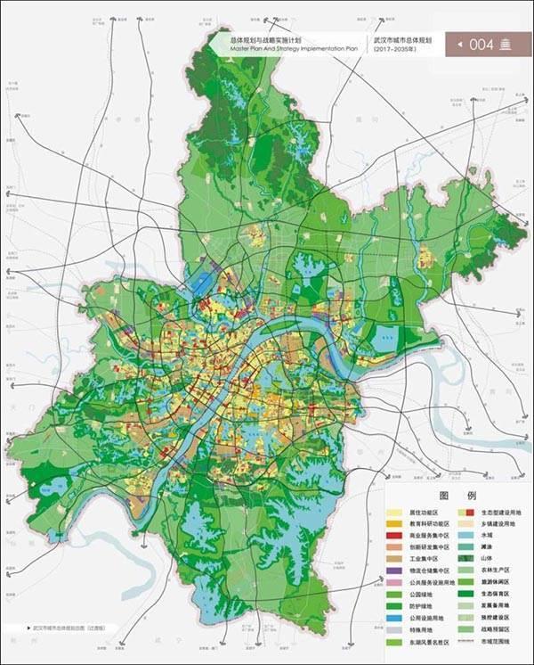 2019武汉市总体规划图