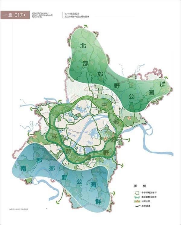 武汉郊野公园布局图