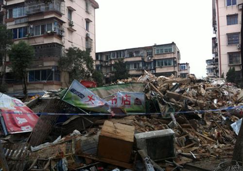 宁波一建成23年大楼倒塌.