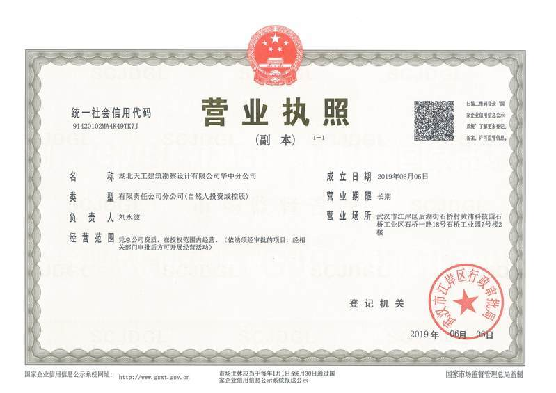 荣誉证书5 湖北天工建筑勘察设计华中分公司