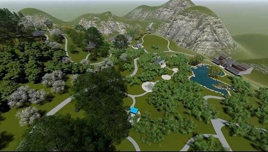 武陵山珍稀植物园效果图
